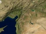 Schattierte Satellitenbild-Ansicht des nahen Ostens