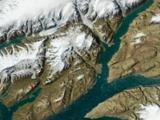 Schattierte Satellitenbild-Ansicht von Ellesmere Island