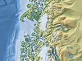 Reliefkarte in Mercator-Projektion von den südlichen Anden
