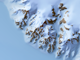 Antarctic map of the transantarctic mountains with landcover layer