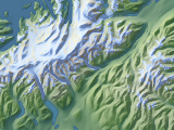 Arctic map in Alaska with lancover layer
